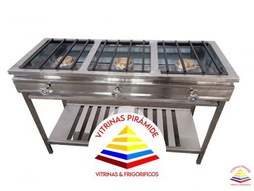 Cocina industrial 3 quemadores cocinas industriales - Cocina industrial precio ...