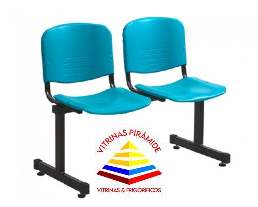 Silla para recepcin 2 puestos muebles de oficina for Muebles de oficina quito ecuador
